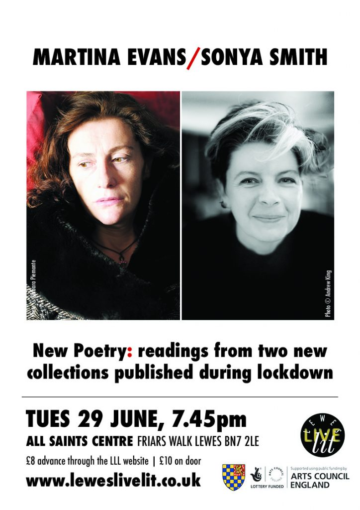 poster advertising poetry readings from two collections published during lockdown, Tuesday 29th June 7.45pm all Saints Centre